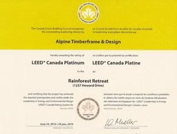 Howard Drive - Platinum Leed Award